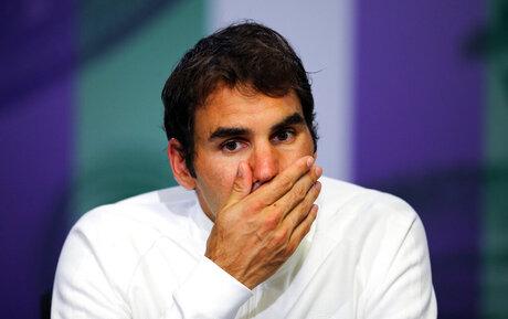 Federer Knee Tennis