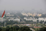 A thin layer of smog is seen on Delhi's skyline in New Delhi, India, Wednesday, Oct. 16, 2019. The Indian capital's air quality levels have plunged to