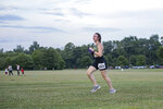 Natalie Willmschen, of Asheville, runs in the Pop-up 5K in the Park at Bill Moore Community Park in Fletcher, N.C. on July 22, 2020. The race was designed to maintain social distancing with runners starting anytime between 6 p.m. and 8 p.m. (Angeli Wright/The Asheville Citizen-Times via AP)