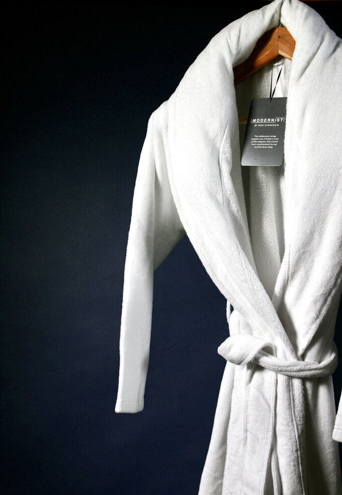 This photo shows the Gravity x Modernist terrycloth weighted robe. Keep the handmade cards, bouquets or breakfasts in bed coming this Mother's Day, but up your game in celebration of brighter days ahead with a store-bought gift. (Gravity via AP)