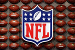 FILE - In this Nov. 30, 2017, file photo, an NFL logo is displayed at the opening of