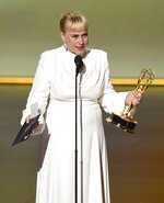 Patricia Arquette accepts the award for outstanding supporting actress in a limited series or movie for
