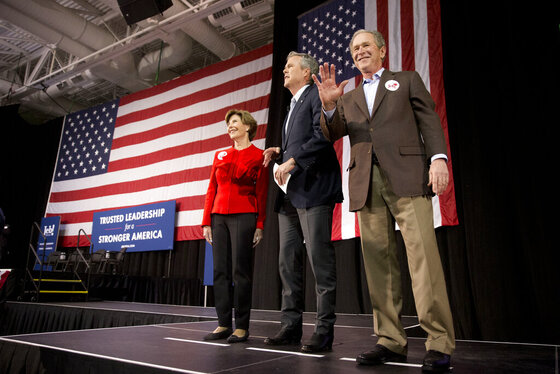 Jeb Bush, George W. Bush, Laura Bush