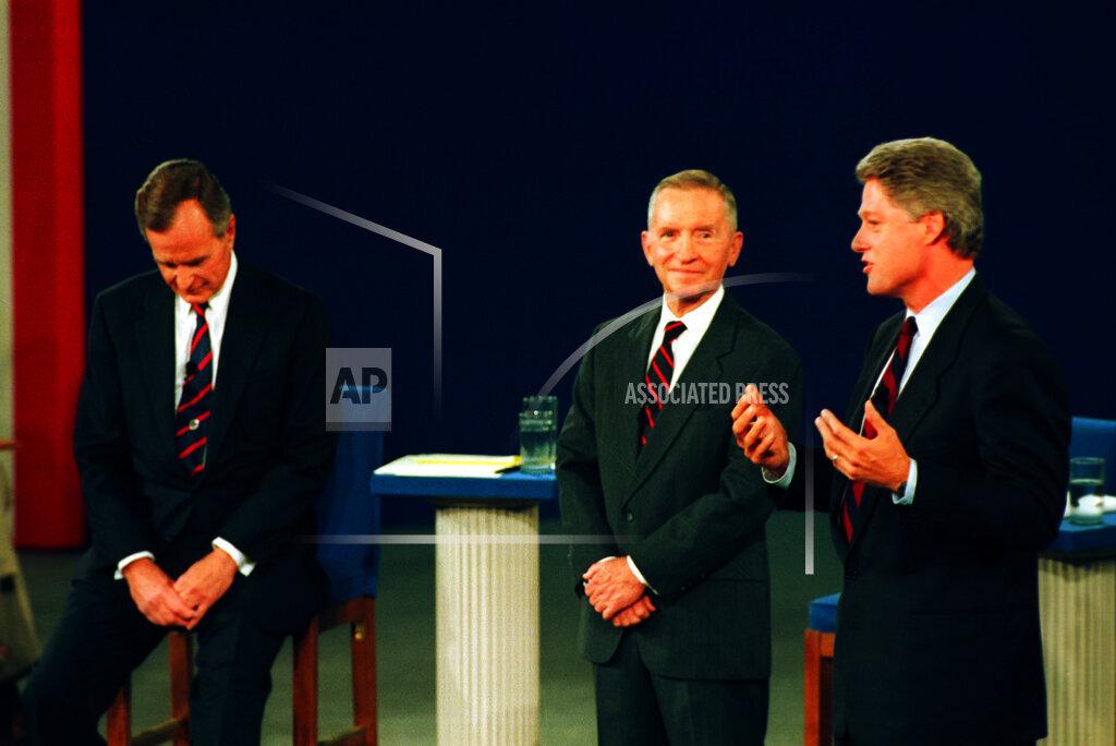 Associated Press Domestic News Virginia United States Election campaigns CLINTON BUSH PEROT DEBATE 1992
