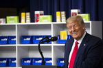 President Donald Trump speaks during an event to sign executive orders on lowering drug prices, in the South Court Auditorium in the White House complex, Friday, July 24, 2020, in Washington. (AP Photo/Alex Brandon)