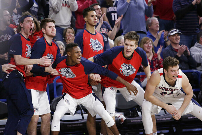 Gonzaga reclaims No. 1 in AP Top 25; Wofford debuts at 24th