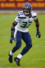 Seattle Seahawks strong safety Jamal Adams (33) during the second half of an NFL football game against the Washington Football Team, Sunday, Dec. 20, 2020, in Landover, Md. (AP Photo/Susan Walsh)