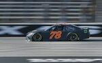 Martin Truex Jr. participates in NASCAR tire tests at Texas Motor Speedway in Fort Worth, Texas, Tuesday, Jan. 9, 2018. (Brad Loper/Star-Telegram via AP)