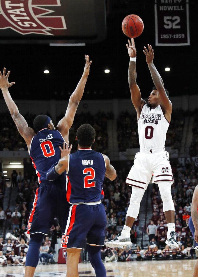 No. 22 Mississippi St rallies past No. 16 Auburn 92-84