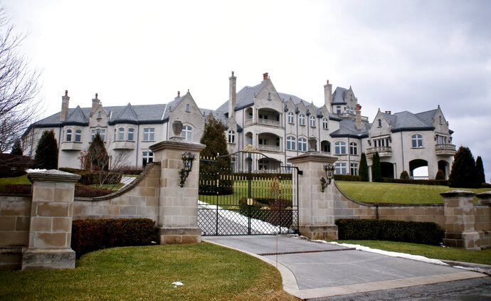 This photo shows the property at 137 Beech Ridge Dr. on Wednesday, Feb. 14, 2018, in Sewickley, Pa. Federal authorities announced conspiracy and tax fraud charges against Joseph W. Nocito on Wednesday. (AP Photo/Keith Srakocic)