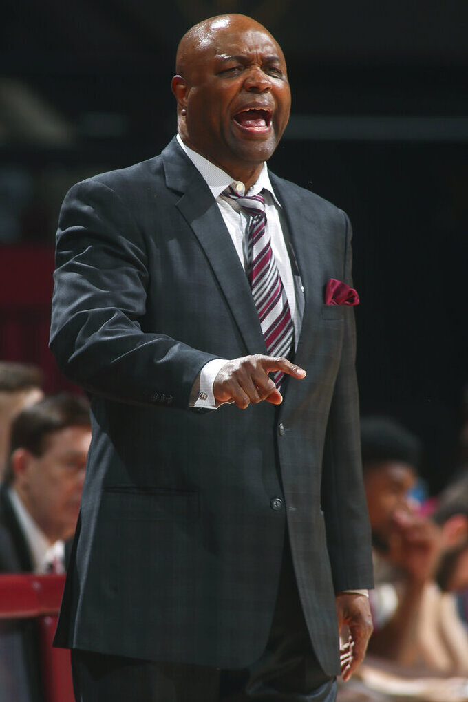 Florida State head coach Leonard Hamilton calls a play in the first half of an NCAA college basketball game against North Florida in Tallahassee, Fla., Tuesday, Dec. 17, 2019. (AP Photo/Phil Sears)