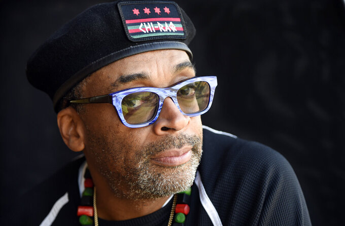 FILE - Filmmaker Spike Lee poses for a portrait in Beverly Hills, Calif. on Oct. 7, 2015. Lee will be president of the jury for the 74th Cannes Film Festival. Usually held in May, this year's festival has been delayed by the health crisis. It will be held July 6-July 17.   (Photo by Chris Pizzello/Invision/AP, File)