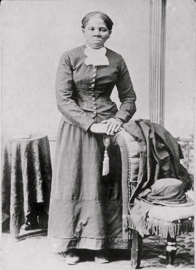 In this photo provided by the Library of Congress, Harriet Tubman in seen in a photograph dating from 1860-75. A Chicago elementary school long named for a biologist who promoted racist ideology will be renamed for abolitionist Harriet Tubman. The renaming of Louis Agassiz Elementary School to Harriet Tubman IB World School comes as part of the Chicago Public Schools' review of school names. (Harvey B. Lindsley/Library of Congress via AP)
