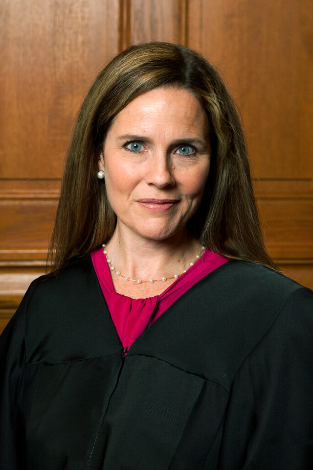 This image provided by Rachel Malehorn shows Judge Amy Coney Barrett in Milwaukee, on Aug. 24, 2018. (Rachel Malehorn, rachelmalehorn.smugmug.com, via AP)