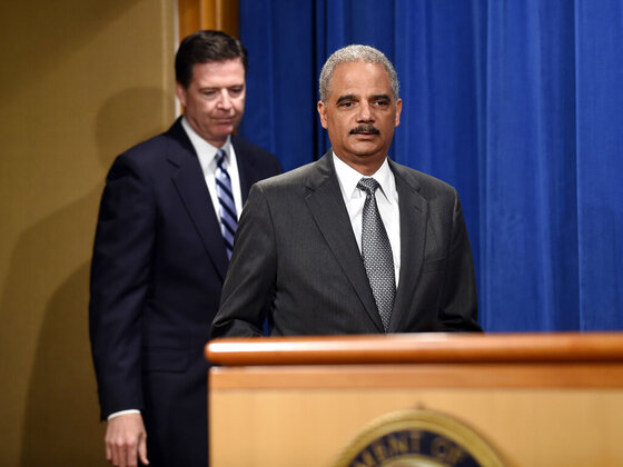 Eric Holder, James Comey