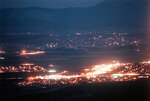 FILE - This July 22, 1999 photo shows lights along Highway 395 in Minden, Nev. A Democratic leader in rural Nevada says she's tired of presidential candidates saying it's too costly and time-consuming to visit far-flung towns. Kimi Cole of the Rural Nevada Democratic Caucus, who lives in Minden, tells The Associated Press that she and others are setting up a series of virtual visits with the Democrats running for president. The online video conferences they hope to launch within a month could be a nationwide model. (Rick Gunn/Nevada Appeal via AP, File)