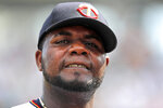 Minnesota Twins starting pitcher Michael Pineda walks to the dugout after the second inning of their spring training baseball game against the Boston Red Sox in Fort Myers, Fla., Friday, March 1, 2019. (AP Photo/Gerald Herbert)