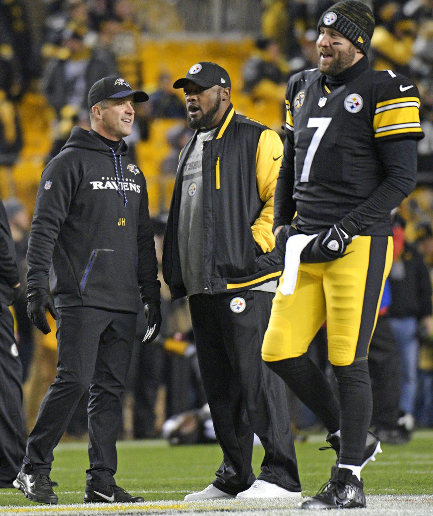 Mike Tomlin, John Harbaugh, Ben Roethlisberger