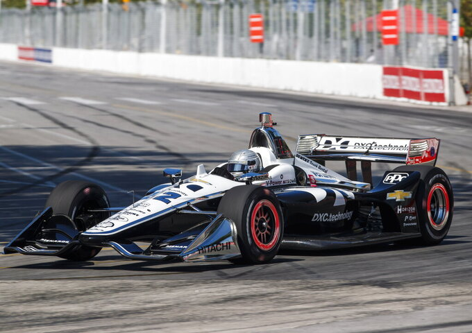 Simon Pagenaud wins pole for IndyCar race at Toronto