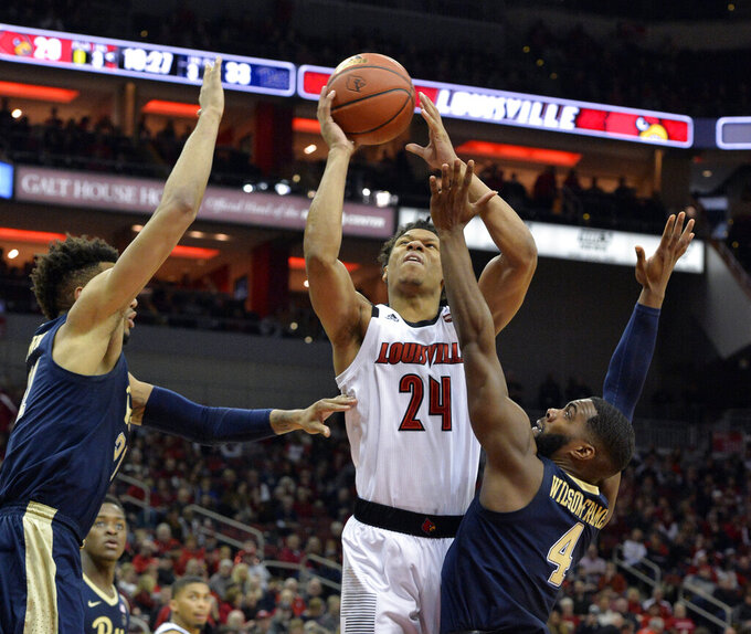 No. 23 Louisville, behind Jordan Nwora, defeats Pitt 66-51