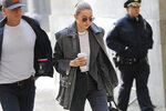 Supermodel Gigi Hadid arrives at a Manhattan courthouse for Harvey Weinstein's jury selection in his trial on rape and sexual assault charges in New York, Thursday, Jan. 16, 2020. (AP Photo/Seth Wenig)
