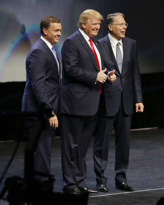 Donald Trump, Chris W Cox, Wayne LaPierre