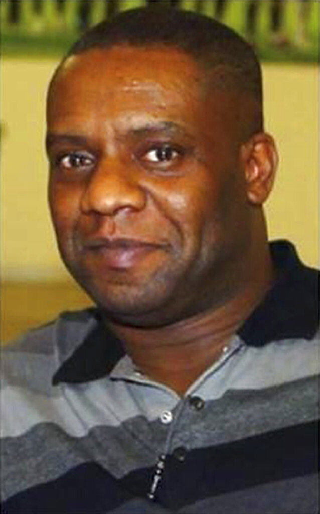 This undated photo shows Dalian Atkinson, issued by Karen Wright, his partner. A British police officer was convicted Wednesday June 23, 2021, of manslaughter in the death of Dalian Atkinson, a former professional soccer player who died after being Tasered and kicked in the head. (Courtesy of Karen Wright via AP)