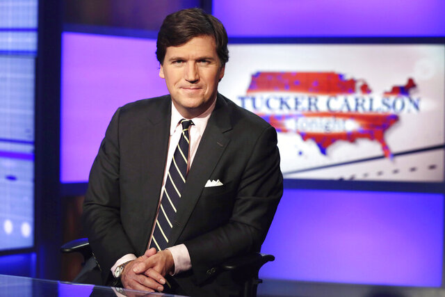 FILE - In this March 2, 2017, file photo Tucker Carlson, host of
