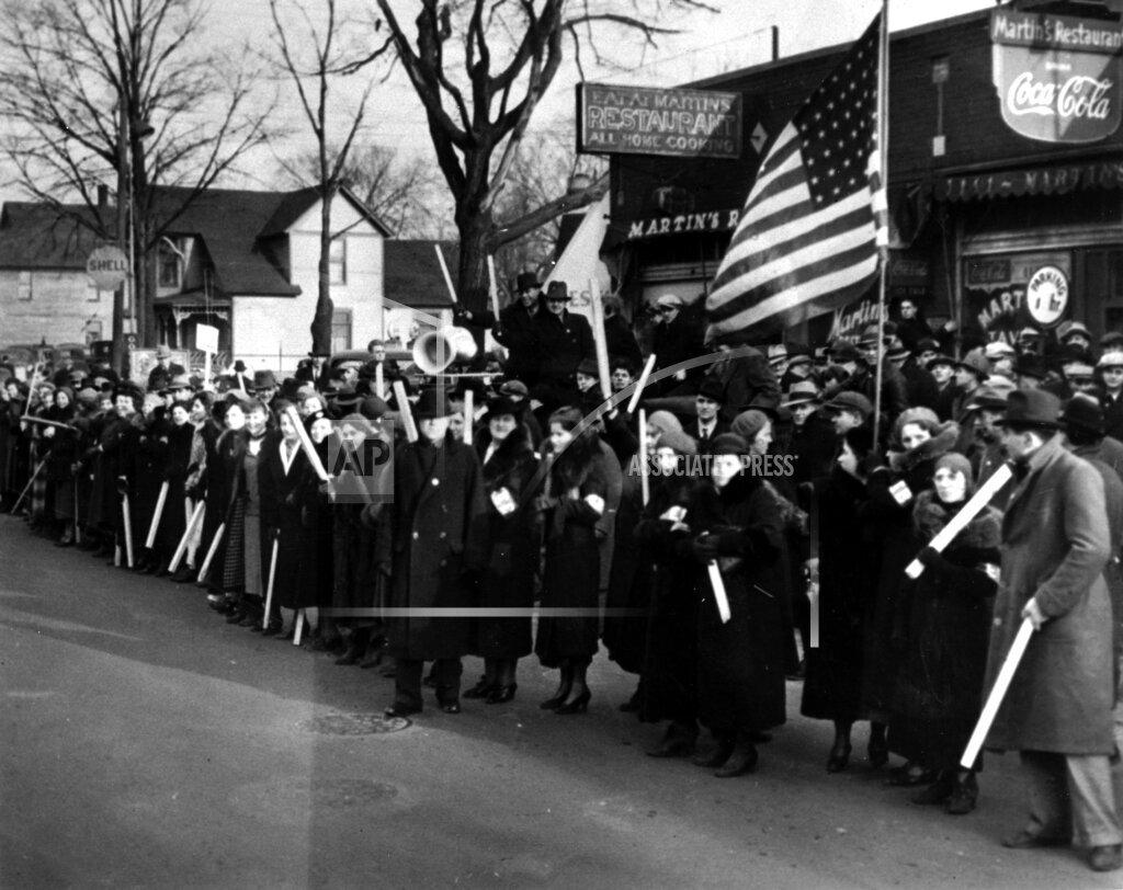 Associated Press Domestic News Michigan United States WOMEN ON STRIKE