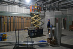 Construction continues at UBS Arena, the future home of the New York Islanders NHL hockey team, in Elmont, N.Y., Thursday, June 3, 2021. The building will have all the bells and whistles and be better accessible to Islanders fans than the recent temporary home in Brooklyn, and the hope is it will provide a strong home-ice advantage for decades to come. (AP Photo/Seth Wenig)