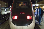 A train is pictured at the Gare St-Charles station in Marseille, southern France, as services begin to wind-down Wednesday, Dec. 4, 2019. France is getting ready for massive, nationwide strikes from Thursday against government plans to overhaul the state pension system that will disrupt trains, buses and flights and force many schools to close.AP Photo/Daniel Cole)