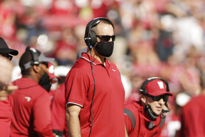 Washington State head coach Nick Rolovich looks on during the first half of an NCAA college football game against Portland State, Saturday, Sept. 11, 2021, in Pullman, Wash. (AP Photo/Young Kwak)