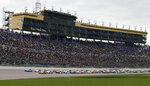 Drivers start the NASCAR Cup Series auto race at Kansas Speedway in Kansas City, Kan., Saturday, May 11, 2019. (AP Photo/Colin E. Braley)
