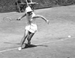 FILE - In this April 25, 1969, file photo, Julie Heldman, of Los Angeles, Calif., competes against second-seeded Lesley Turner Bowrey, of Australia, in the Rome International Open Tennis Tournament in Rome. Heldman and eight other women risked their tennis careers 50 years ago when they signed $1 contracts to launch a new women's circuit. (AP Photo/Claudio Luffoli, File)