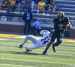Tim Jones, Southern Miss wide receiver, catches a pass during an NCAA college football game against Rice in Hattiesburg, Miss., Saturday, Oct. 31, 2020. (Cam Bonelli/Hattiesburg American via AP)