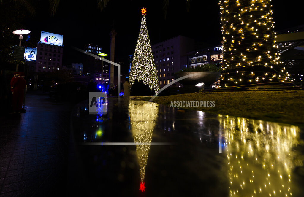 CA: Christmas tree lighting San Francisco