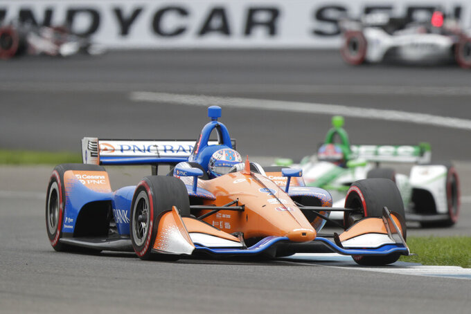 Pagenaud earns 3rd IndyCar GP win with splashy move in rain