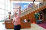 Thad Turnipseed, Director of Recruiting and External Affairs Clemson Football, leads media on a tour the Clemson Football Facility at Clemson University on Tuesday, January 31, 2017 in Clemson, S.C.. ( Ken Ruinard / Gannett/USA Today Network )/The Independent-Mail via AP)
