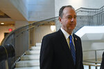 House Permanent Select Committee on Intelligence Chairman Rep. Adam Schiff, D-Calif., arrives on Capitol Hill for the interview with U.S. Ambassador to the European Union Gordon Sondland as part of the impeachment inquiry. (AP Photo/Susan Walsh)