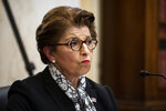 Jovita Carranza, administrator of the Small Business Administration, speaks during a Senate Small Business and Entrepreneurship hearing to examine implementation of Title I of the CARES Act, Wednesday, June 10, 2020 on Capitol Hill in Washington. (Al Drago/Pool via AP)