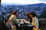 A group of people break their fast on the first day of the fasting month of Ramadan, on an old fortress overlooking the historic center of Sarajevo, Bosnia, on Wednesday, May 16, 2018. Muslim Bosniaks make up around 40 percent of Bosnia's population of 3.8 million. Many of them celebrate Muslim holy month of fasting during which they abstain from food, drink and smoking from sunrise to sunset. (AP Photo/Amel Emric)
