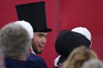 Fans dress up during the opening ceremony for the Ryder Cup at the Whistling Straits Golf Course Thursday, Sept. 23, 2021, in Sheboygan, Wis. (AP Photo/Ashley Landis)