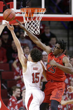 Maryland's Jalen Smith (25) defends against Nebraska's Isaiah Roby (15) during the first half of an NCAA college basketball game in Lincoln, Neb., Wednesday, Feb. 6, 2019. (AP Photo/Nati Harnik)
