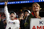 Supporters of President Donald Trump listen as he speaks at a campaign rally, Thursday, Jan. 9, 2020, in Toledo, Ohio. (AP Photo/ Jacquelyn Martin)