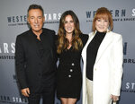 Singer-songwriter and co-director Bruce Springsteen, left, daughter Jessica Springsteen and wife Patti Scialfa attend the special screening of
