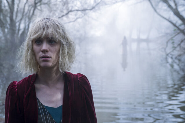 This image released by Universal Pictures shows Mackenzie Davis in a scene from