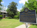 This April 28, 2018 photo shows the F. Scott and Zelda Fitzgerald Museum in Montgomery, Ala. The couple lived in the house in 1931 and 1932. Zelda was a Montgomery native and they met in Montgomery in 1918 at a country club while he was stationed at a U.S. Army base. An upstairs apartment in the house can be rented on Airbnb and is also used for writers' residencies. (AP Photo/Beth J. Harpaz)