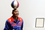 FILE - In this Dec. 10, 2010, file photo, Harlem Globetrotters Fred