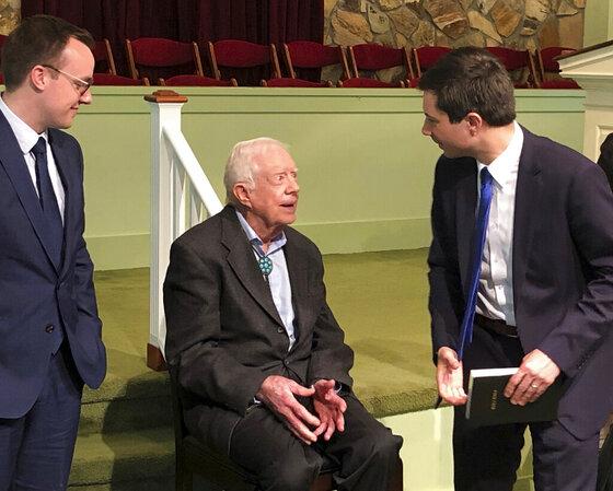 Jimmy Carter, Pete Buttigieg, Chasten Glezman Buttigieg