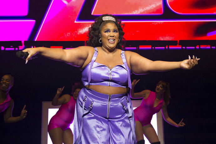 Recording artist Lizzo performs at the Pepsi Zero Sugar Super Bowl Party at Meridian on Island Gardens in Miami on Friday, Jan. 31, 2020, in Miami, Fla. (Photo by Scott Roth/Invision/AP)